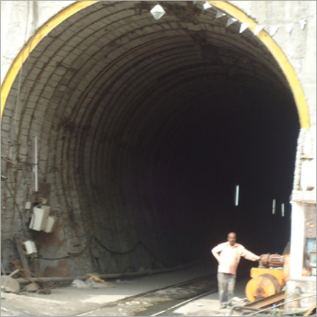 Rail Layed For Penstock Erection In Tunnel