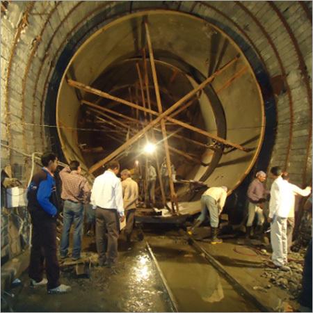 Erection Of Tunnel Penstock