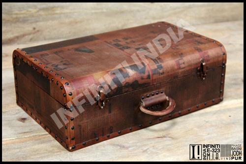 Vintage Leather Storage Box