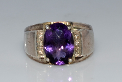 925 Diamond Gemstone Jewelry Fashion Men