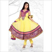 Heavy Border With Handwork Fabric Net Suits