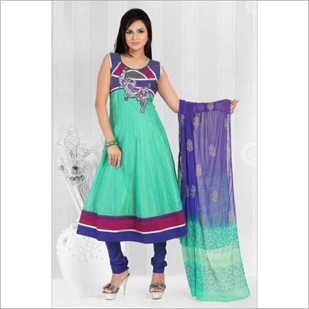 Chanderi Silk Hand Work Suit
