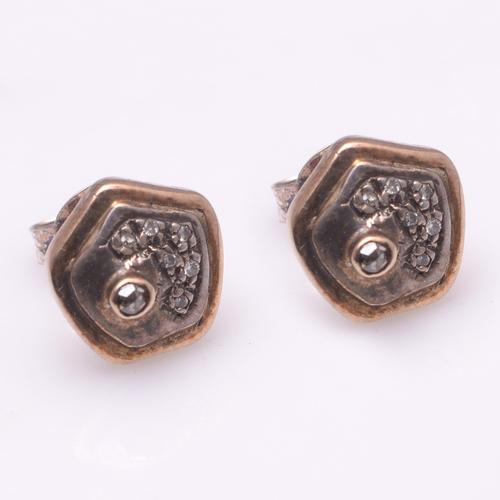925 Sterling Silver Diamond Earrings