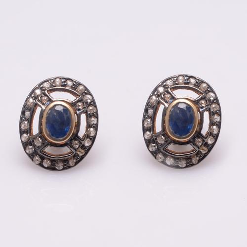 925 Diamond Gemstone Fashion  Earring