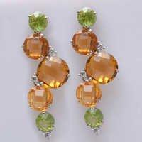 925 Sterling Silver Gemstone Fashion Earrings
