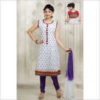 White Chanderi Suits