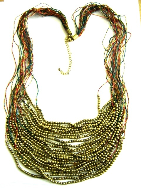 Criss Cross Antique Necklace