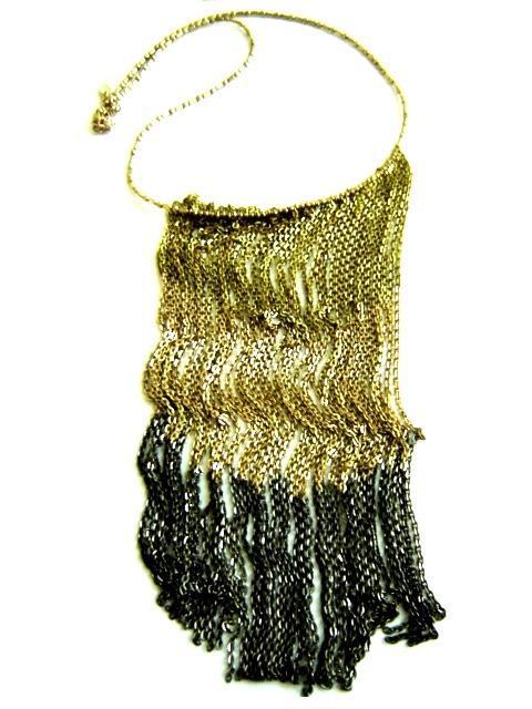 Criss Cross Vintage Silver Necklace