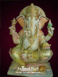 Ganesh Murti In Marble