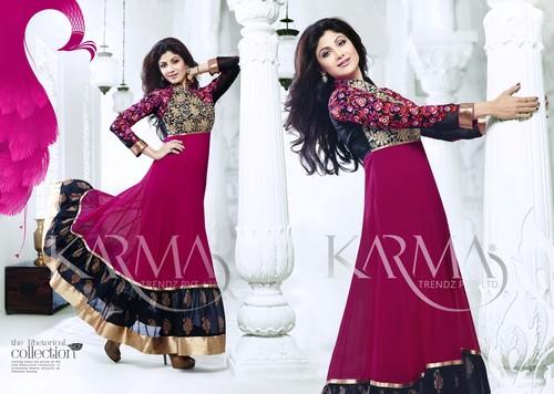 Shilpa Shetty Style Long Anarkali Suits