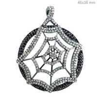 Sterling Silver Pave Diamond Pendant