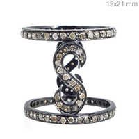Sterling Silver Pave Diamond Ring Jewelry