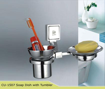 Soap Dish With Tumbler Cubix HI Life
