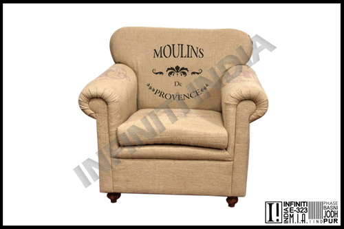 Grain Sack Single Seater Sofa