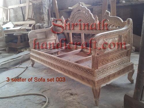 Carved Teak Sofa Set 005