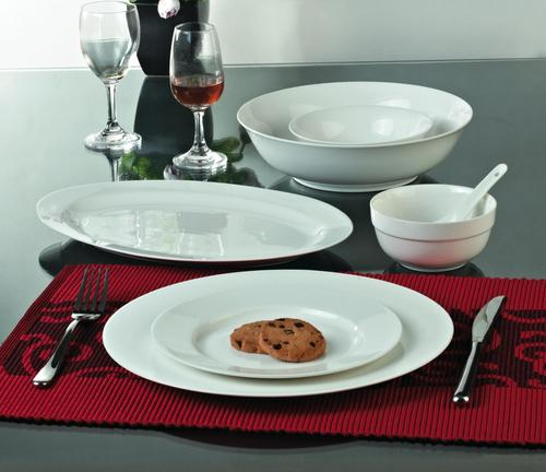 Valerio - White 16 Pcs Dinner Set For 4