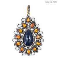 Gemstone Diamond Gold Pendant