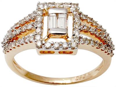 Wholesale price of rose gold diamond couple ring