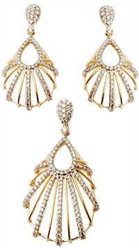 Newest design gold diamond jewelry set