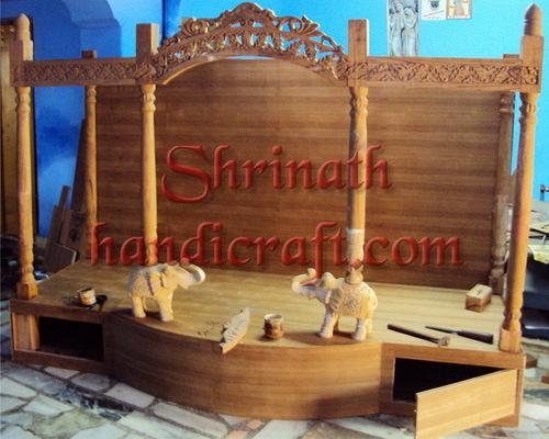 Carved Teak Temples