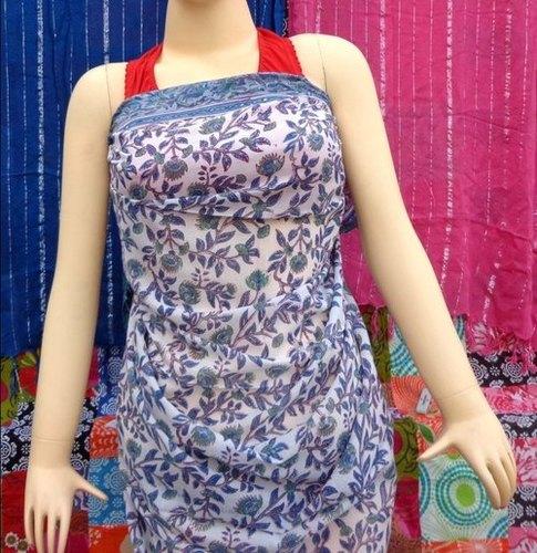Grey Matching Handmade Block Print Cotton Sarong