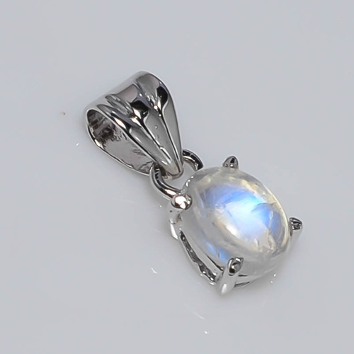 925 Sterling silver Rainbow moon Gemstone Fashion Pendant