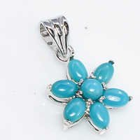 925 Sterling Silver Turquoise Gemstone Pendant