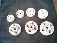 Porcelain electrical sockets