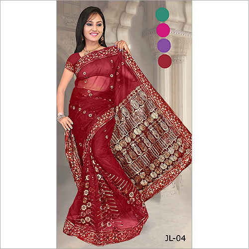 Fancy Embroidery Saree