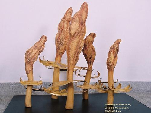 Modern Wood Sculpture