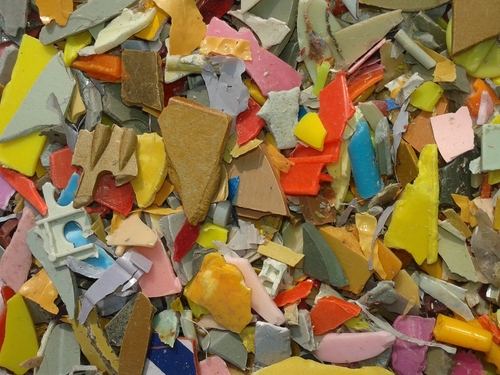 Yellow HIPS Plastic Scrap