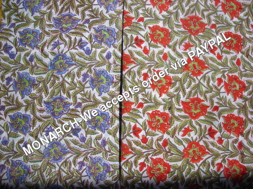 FLOWER COTTON FABRIC