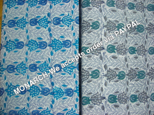LOTUS FLOWER COTTON FABRIC