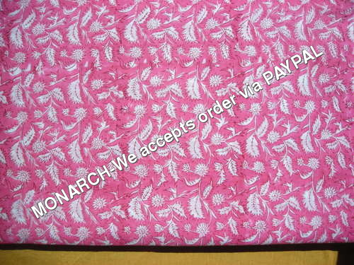 PINK LEAF COTTON FABRIC