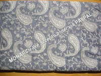 PURPLE PAISLEY COTTON FABRIC
