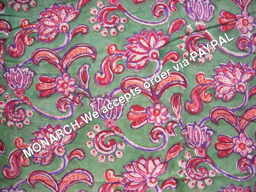 RICH MUGHAL FLOWER COTTON FABRIC