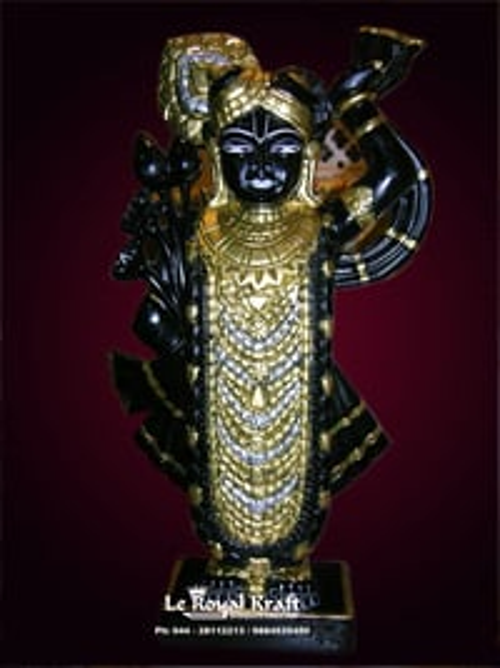 Black Marble Shreenathji Idol