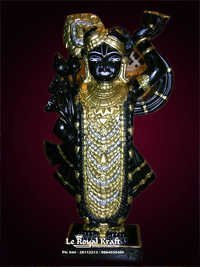 Black Marble Shreenathji Idol