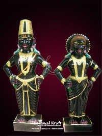 Black Marble Vittal & Rukmani Statue