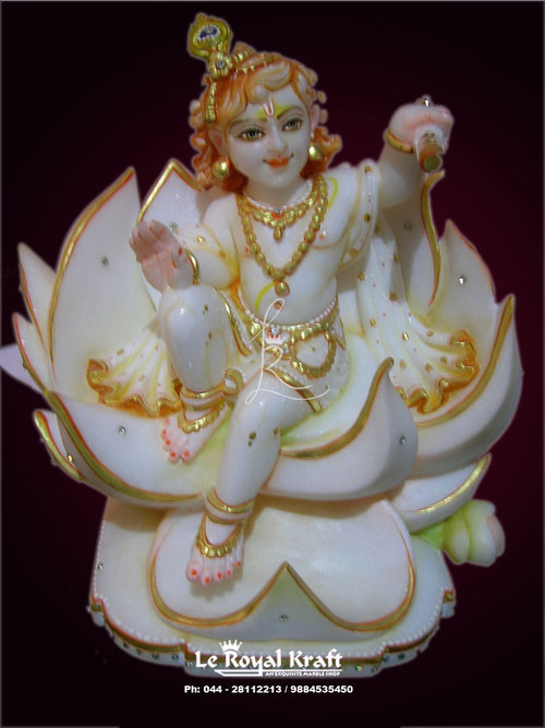 Lord Krishna Marble Statues