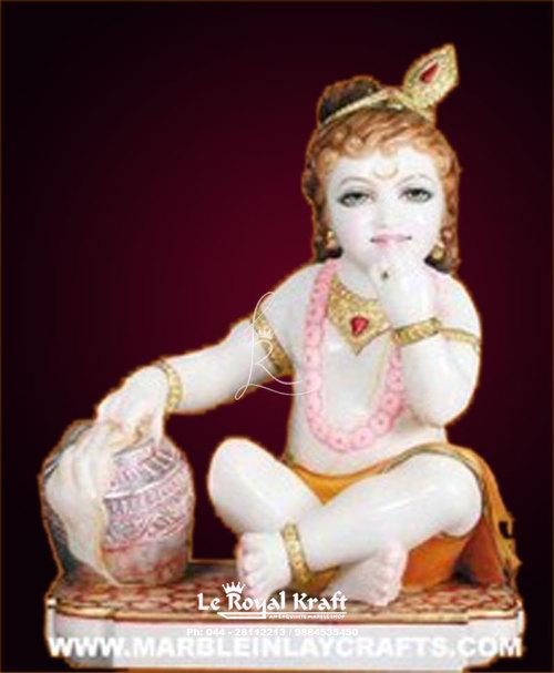 Marble Baby Krishna Statue