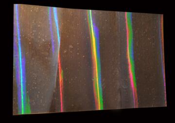 Holographic Rainbow Pillar Films