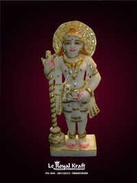 White Marble Krishna Sculpture
