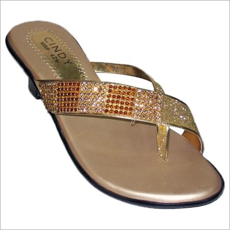 Womens Gold Sandals