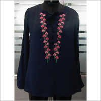 Crepe Embroidered Top