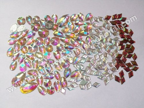 Resin Rainbow Two Hole Stone