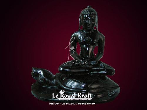 Black Marble Mahavir Statue