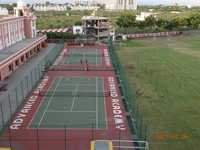 Tennis Court With Chain Link Fencing