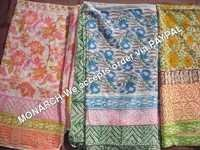 MULTICOLOR FLOWER HAND BLOCK PRINT SARONG