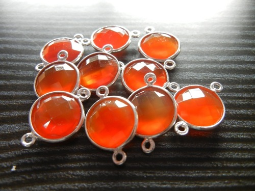 50 Piece Lot Of  Carnelian Gemstone Connectors